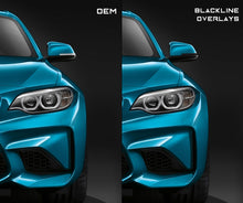 Load image into Gallery viewer, BMW 2/3/4 Series (F Chassis) BLACKLINE Mirror Indicator Overlay Kit