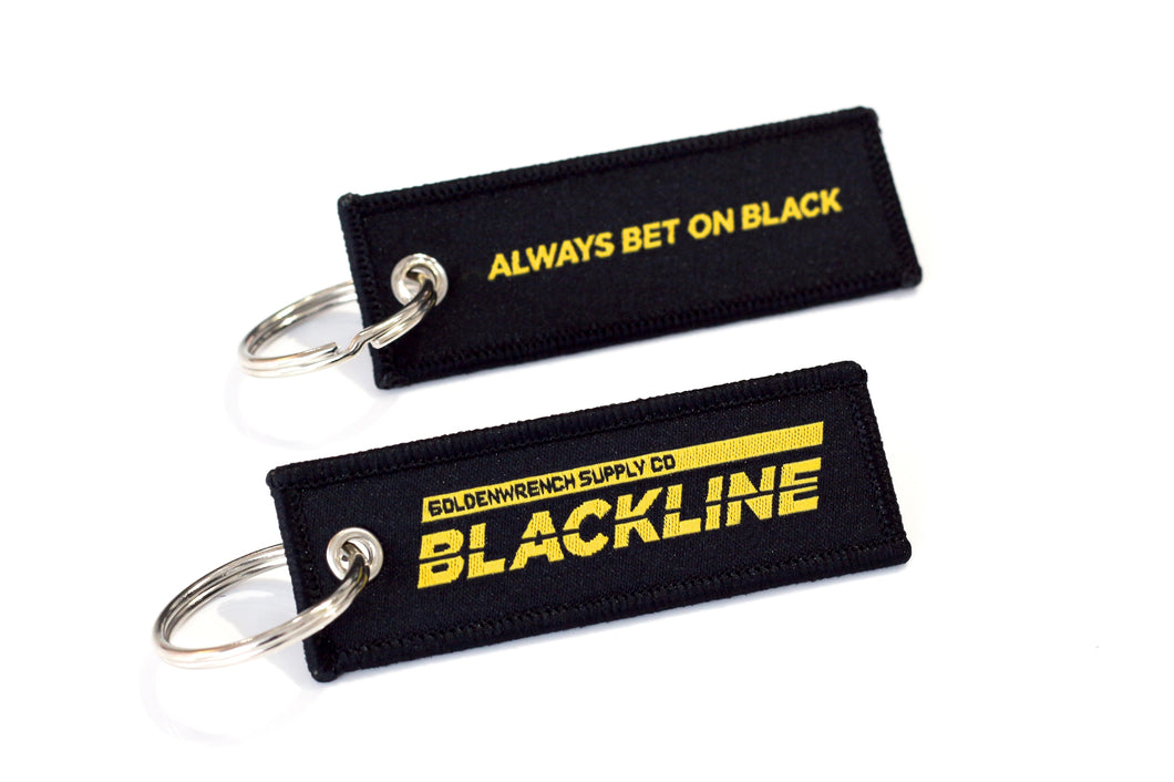 BLACKLINE YEAR ONE Black & Gold Key Tag