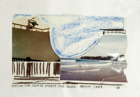 Where the skate meets the surf, Bondi 1994.