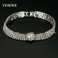 Load image into Gallery viewer, YFJEWE Delicate Fashion Chain Type Bracelet Tone Crystal Rhinestones Chic Jewelry For Women lady Bridal Prom Bracelet #B083
