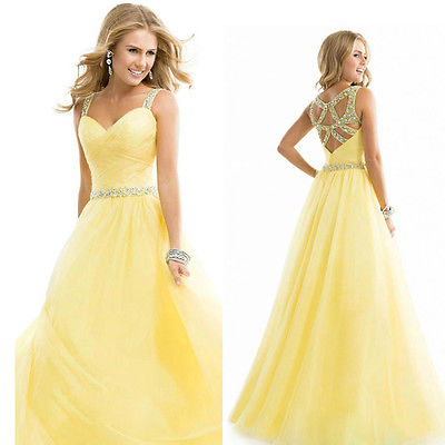 THE ROYAL SUN Chiffon Bridesmaid Formal Ball Wedding Prom Dress