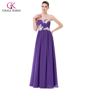 Bridesmaid Dresses Grace Karin 2018 Green Purple Cheap Long Bridesmaids Dresses Gowns Chiffon Wedding Party Dresses Under $50