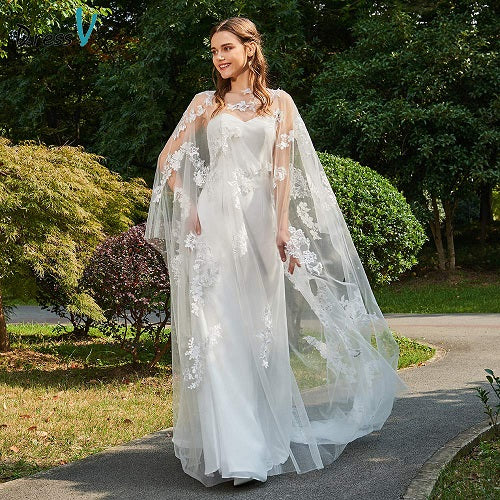 Dressv sample ivory wedding dress scoop neck sheath bridal long sleeves outdoor&church lace elegant customize wedding dresses