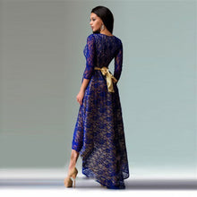 Load image into Gallery viewer, Spring New Fashion Long Dress 2018 Sexy Women Dresses Three Quarter Maxi Lace Dress Irregular Prom Party Dresses Robe M0100