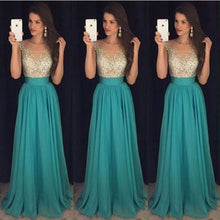 Load image into Gallery viewer, GOLDEN TEAL Maxi Wedding/Prom Dress