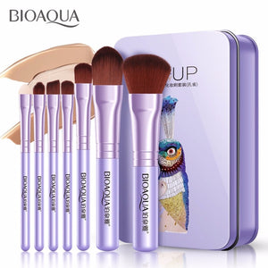 7PCS/SET Pro Women Facial Makeup Brushes Set Face Cosmetic Beauty Eye Shadow Foundation Blush Brush Make Up Brush Tool BIOAQUA