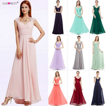 Load image into Gallery viewer, Bridesmaid Dresses V-neck Sequins Chiffon Empire 2018 Ever Pretty EP09672 Mint Green Coral Burgundy Long Wedding Guest Dresses