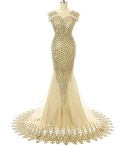 Gold MERIDIAN GIRL Prom Dress