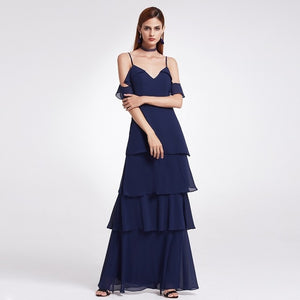 Bridesmaid Dresses Ever Pretty 07211 Sexy One Shoulder A-line Ruffles Floor-Length Belt Gowns Beach Wedding Guest Dress