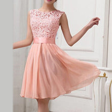 Load image into Gallery viewer, summer Fashion lace dress pink Women vintage elegant white Black Dress celebrity chiffon Prom wedding Party dresses sundress
