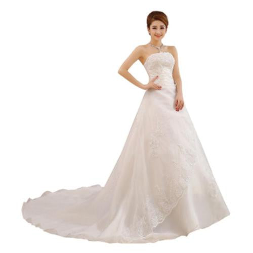 Wedding Dresses Lace Sleeveless Romantic Bridal Vintage Dress