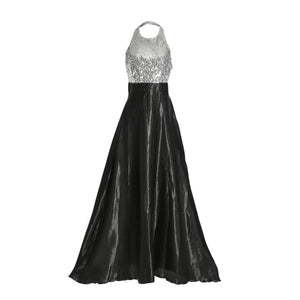 Women sleeveless sequined dress Formal Prom  Ball Gown  Bridesmaid Long Dresses