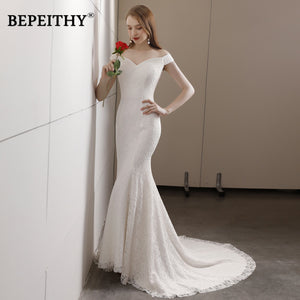 Vestido De Noiva Mermaid Wedding Dress Sweetheart Court Train Cheap Sales Lace Beach Wedding Dresses 2018 Hot Sale