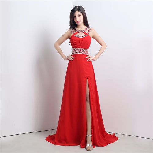 THE RED SEA Chiffon Formal/Prom Dress