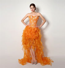 Load image into Gallery viewer, SEXY ORANGE Ruffle Gown
