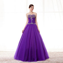 Load image into Gallery viewer, Purple PRINCESS LEAH Elegant Prom Dress - Crystal Beaded