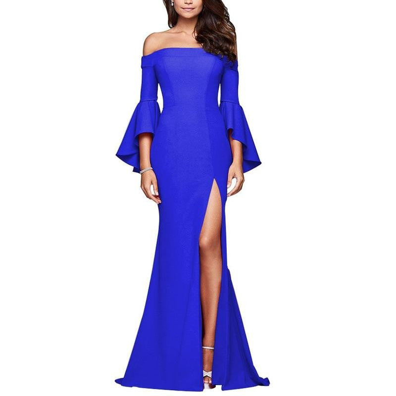 Sexy Off Shoulder Mermaid Long formal Evening Party Dress Elegant Floor Length Maxi Prom