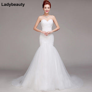Ladybeauty 2018 Sexy Sweetheart Wedding Dress Mermaid Bridal Dress Vestido De Noiva 2018 robe de mariage