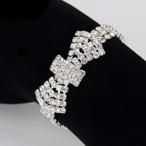 Crystal Bridal Bracelets For Women Rhinestone