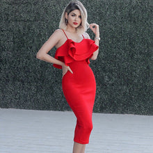 Load image into Gallery viewer, RED ROSE Bodycon Party/Prom Dress