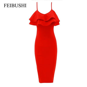 RED ROSE Bodycon Party/Prom Dress
