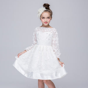 Dress for Girl Party Wedding Flower Dress Children Costumes Dress Formal Chiffon Stage Dress k5