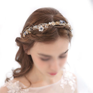 Fashion Crystal Crown Bridal Headdress Beads Imitation Pearl Headband Vintage Hair Jewelry Silver Headwear Wedding Dress Accessories (G4109)