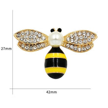 Load image into Gallery viewer, Crystal Rhinestone and Enameled Bee, Hornet Brooch Pins