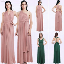 Load image into Gallery viewer, Ever Pretty Candy Color Cheap Long Chiffon A-Line Dusty Pink Bridesmaid Dresses 2018 Vestido da dama de honra Party Prom Dresses