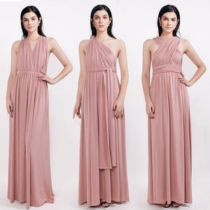 Ever Pretty Candy Color Cheap Long Chiffon A-Line Dusty Pink Bridesmaid Dresses 2018 Vestido da dama de honra Party Prom Dresses