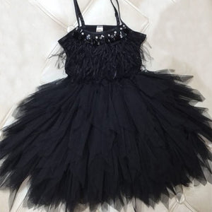 Girls Wedding Party Dresses Feather Tassels Kids Dress for Girls Costume Robe Fille Toddler Clothes Children Princess Dress