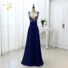 Load image into Gallery viewer, Vestido De Festa Fashion Sexy Chiffon Blue Party Evening Dresses 2019 Long Formal Prom Robe De Soiree Woman's Dress OL3102 PlUS
