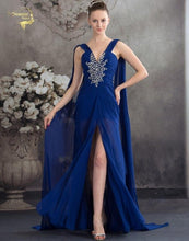 Load image into Gallery viewer, Vestido De Festa Fashion Ribbon Royal Blue Party Evening Dresses 2019 Long Formal Prom Robe De Soiree Woman's Dress OL5203 V