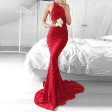 Load image into Gallery viewer, Women Sexy Halter Backless Maxi Dress Sleeveless Slim Party Dress Prom Dress