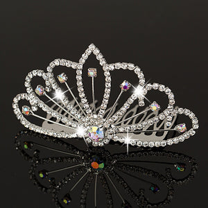 YFJEWE Fashion Women Crystal Elegant Silver Wedding Bridal Hair Comb Hair Pin Clip Clothing Accessories Jewelry  H005