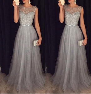 Sequin Dress Women Lace Formal Party Dress Sleeveless Wedding Prom-Gown Long Maxi Dress 2018 Summer Sundress