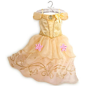 Princess Flower Girl Dress 4 Colors Summer 2017 Wedding Birthday Party Dresses For Girls Children's Costume Teenager Prom Design
