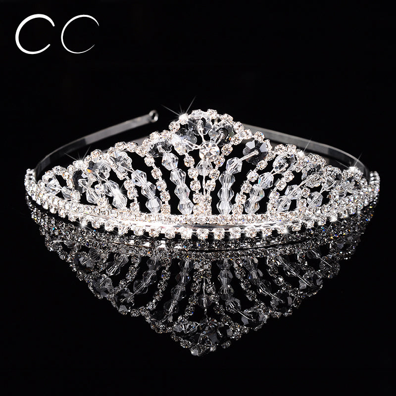 CRYSTAL CROWN Tiara - Bridal Prom Jewelry