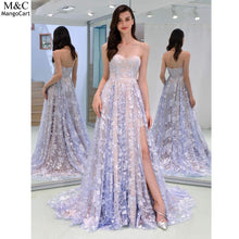 Load image into Gallery viewer, Women Elegant Fashion Sleeveless Backless Hem Party, Wedding, Prom Slit Tube Zipper Top Slim Formal Dress