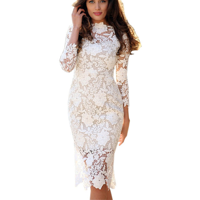 PRESIDENTIAL LACE Bodycon Dress