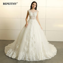 Load image into Gallery viewer, Robe De Mariee Princess Lace Wedding Dresses Sleeveless 2019 Court Train Vestido De Novian Vintage Bridal Gowns Hot Sale