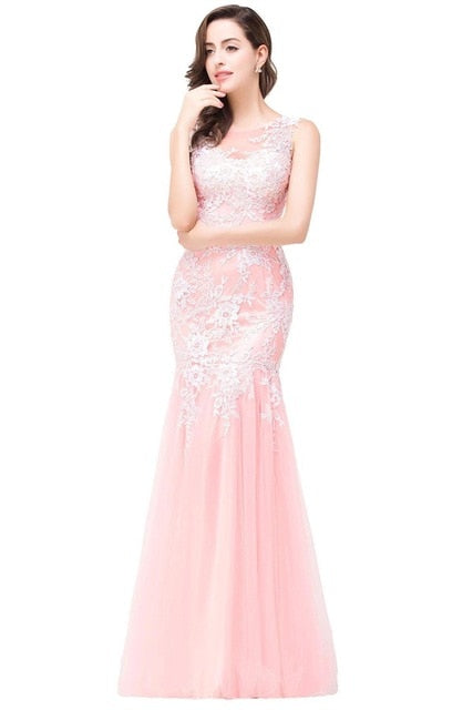 Mermaid Long Tulle Evening/Prom Dress
