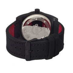 Shield Nuno Leather-Band Swiss Men's Diver Watch - Black/Silver