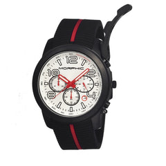 Morphic M22 Series Chronograph Men's Watch w/ Date - Black/White