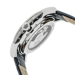 Reign Stavros Automatic Skeleton Leather-Band Watch - Silver/Navy