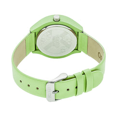 Crayo Atomic Leather-Band Watch - Lime