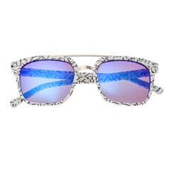 Sixty One Lindquist Polarized Sunglasses - White Marble/Purple-Blue