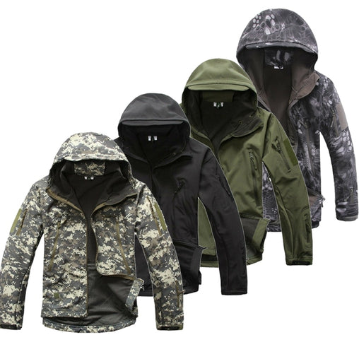 2019 New Lurker jacket Shark Skin Softshell V5 Military Tactical Jacket Men Waterproof Coat Camouflage Hooded Camo Clothing G020
