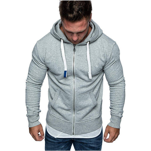2019 New Men solid Sweatshirt Cardigan zipper hoodies Autumn winter Casual Hoodies Top Boy Blouse Tracksuits Sweatshirt Hoodies