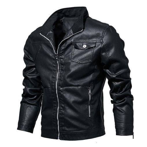 2019 New Mens Leather zipper Jackets High Quality Classic Motorcycle Bike Cowboy Jacket Male Plus Size Coats Brand Clothing L364
